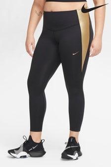 Леггинсы цвета металлик Nike One