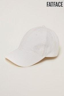 FatFace白色素色棒球帽