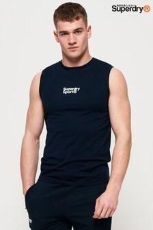 Camiseta sin mangas con logo pequeño Core Sport de Superdry