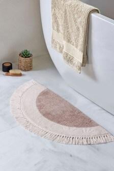 Semi Circle Tassel Bath Mat