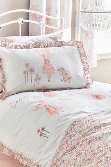 Mabel Mouse Bett- und Kissenbezüge mit Stickerei im Set