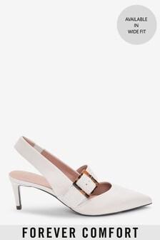 Кожаные туфли с ремешком через пятку