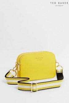 Ted Baker Yellow Amerrah Branded Webbing Strap Camera Bag
