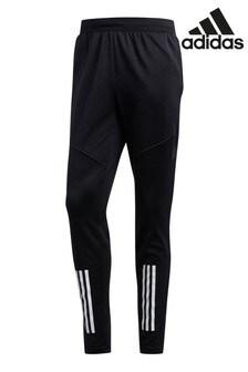adidas Black Warm 3 Stripe Joggers