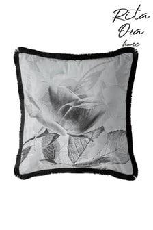 Rita Ora White Elira Monochrome Cushion