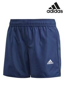 Темно-синие пляжные шорты adidas