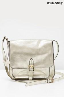 White Stuff Metallic Emma Leather Cross-Body Bag