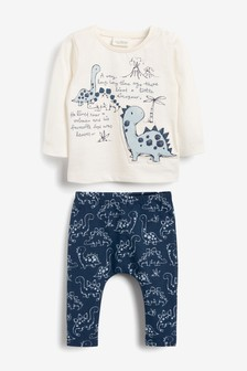 Dinosaur T-Shirt And Legging Two Piece Set (0mths-3yrs)