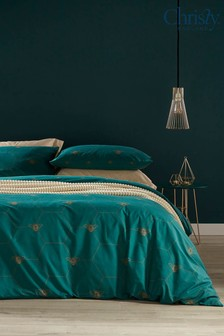 Christy Emerald Manchester Bee Duvet Cover and Pillowcase Set