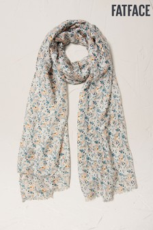 FatFace Natural Graphic Floral Scarf