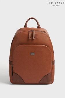 Ted Baker 棕色Riviera織紋仿皮旅行包