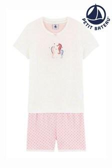 Petit Bateau Pink Seahorse Pyjamas