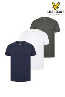Lyle & Scott Navy Lounge T-Shirts Three Pack