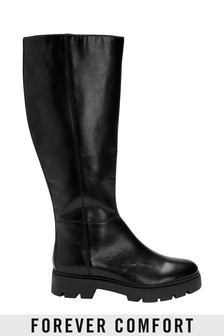 Forever Comfort® Knee High Leather Boots