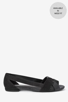 Weave Peep Toe Shoes