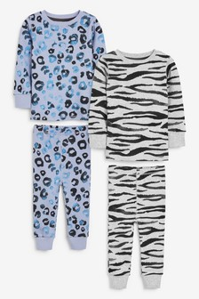 2 Pack Animal Print Snuggle Pyjamas (9mths-12yrs)