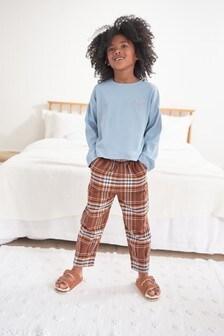 Woven Check Bottom Pyjamas (3-16yrs)