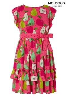 Monsoon Kleid mit Obstmotiven