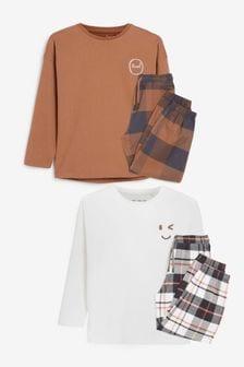 2 Pack Woven Oversized Bottom Pyjamas (3-16yrs)