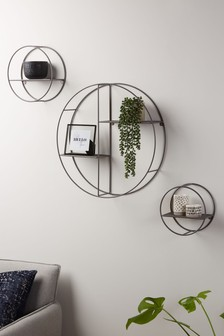 Set Of 3 Round Shelves (703983) | $72
