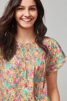 Short Sleeve Smocked Top (704152) | $22