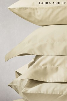 Set of 2 Laura Ashley Cream 200 Thread Count Cotton Pillowcases