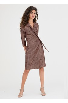 Блестящее платье-смокинг с пайетками