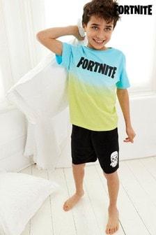 פיג'מה קצרה בצבעי אומברה שלFortnite (גילאי 10 עד 16)