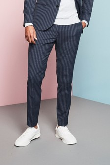 Skinny Fit Stripe Suit: Trousers