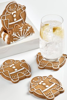 Set Of 4 Coasters In Holder (706629)   $26