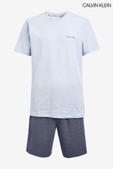 Calvin Klein Blue Branded Pyjama Set