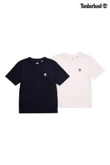 Dwie koszulki Timberland®: granatowa i biała
