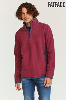 FatFace Purple Airlie Pocket Sweater