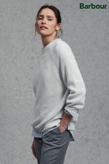 סוודר משובץ שלBarbour® דגם Murray בצבע לבן בוהק