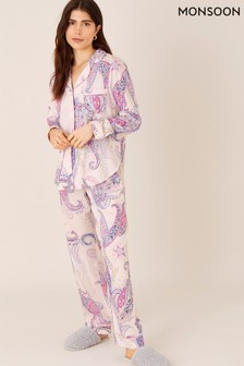 Monsoon Pink Paisley Print Pyjama Bottoms