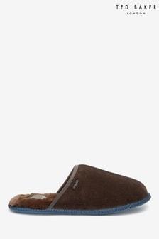 Papuci de casă Ted Baker Parick maro