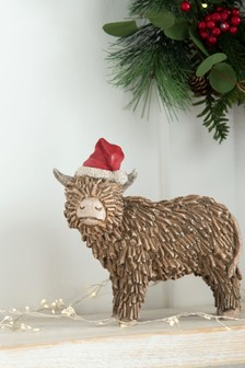 Brown Hamish The Highland Cow Christmas Decoration