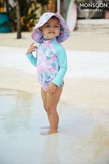 Costum de soare pentru bebeluși Monsoon Dinah cu protecție solară