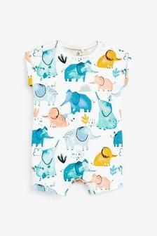 """Комбинезон с акварельным рисунком """"слоны"""" (0 мес. - 3 лет)"""