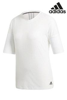 Белая футболка adidas Must Have с 3 полосками