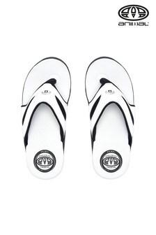 Animal White Fader Flip Flops