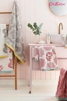 מגבת של Cath Kidston דגם Freston בהדפס ורדים ורוד