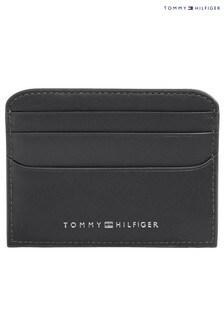 Tommy Hilfiger Black TH Metro Credit Card Holder