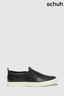 Schuh Black Meg Slip-On Trainers