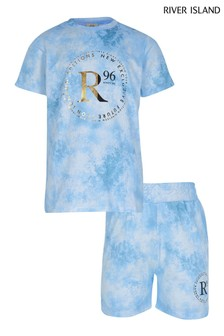 River Island Blue Light Tie Dye Set