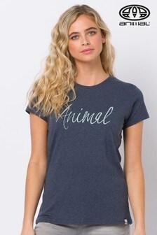 Animal Reel Me In T-Shirt mit Grafik, Blau