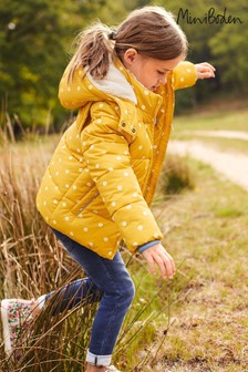 Mini Boden Yellow Cosy 2-In-1 Padded Jacket