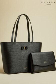 Ted Baker Black Deannah Bow Detail Shopper Bag