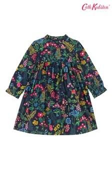 Cath Kidston® Twilight Garden Gerüschtes Kleid mit Biesen, Weiß