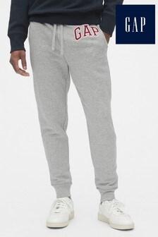 Szare spodnie dresowe z logo Gap